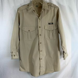Khaki L.L. Button Down Long Sleeve Sz M 15-15.5